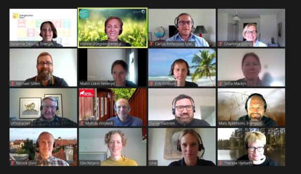 Alla verksamhetsledarna i ett digitalt möte.